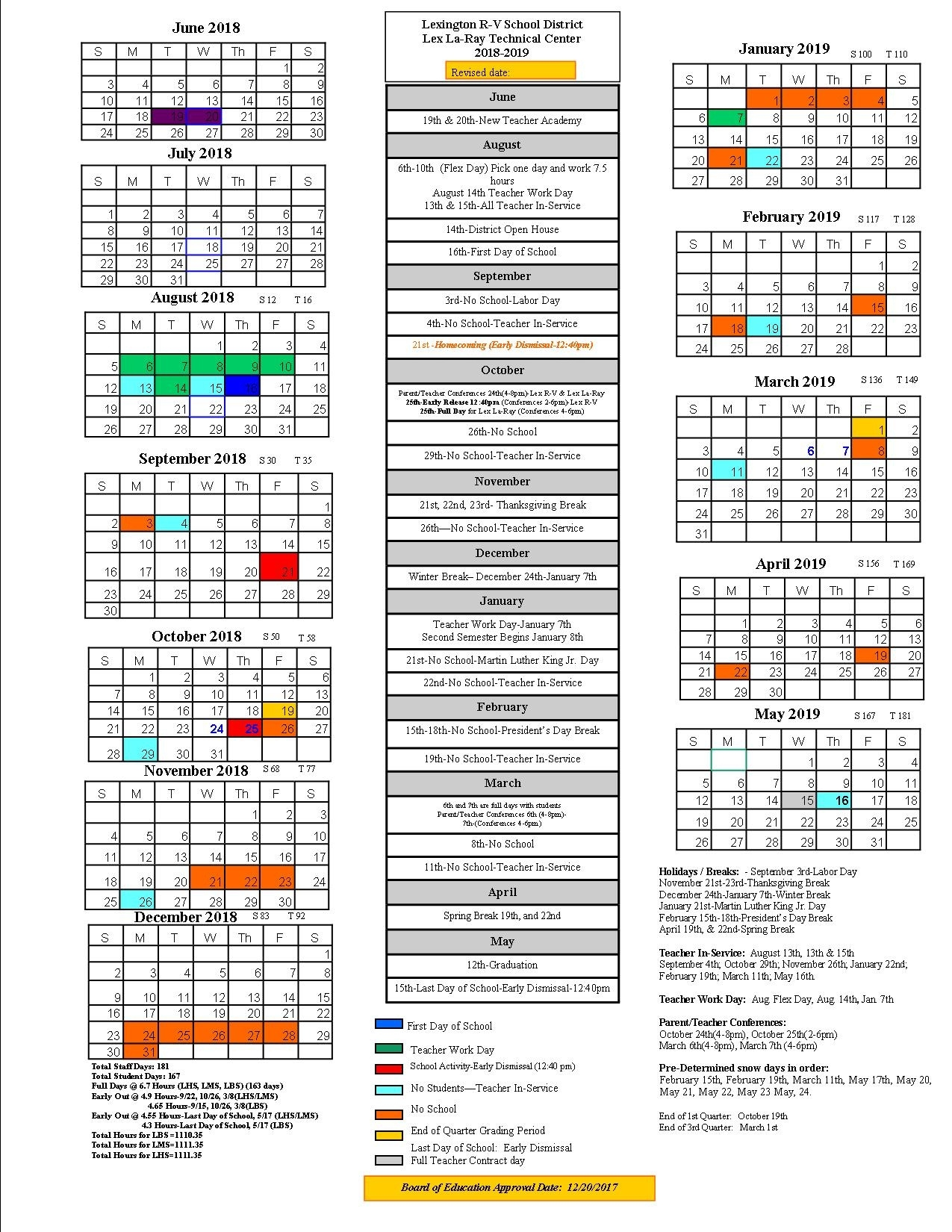 Lexington School District Calendar 2019 - Publicholidays_Lexington 5 School Calendar