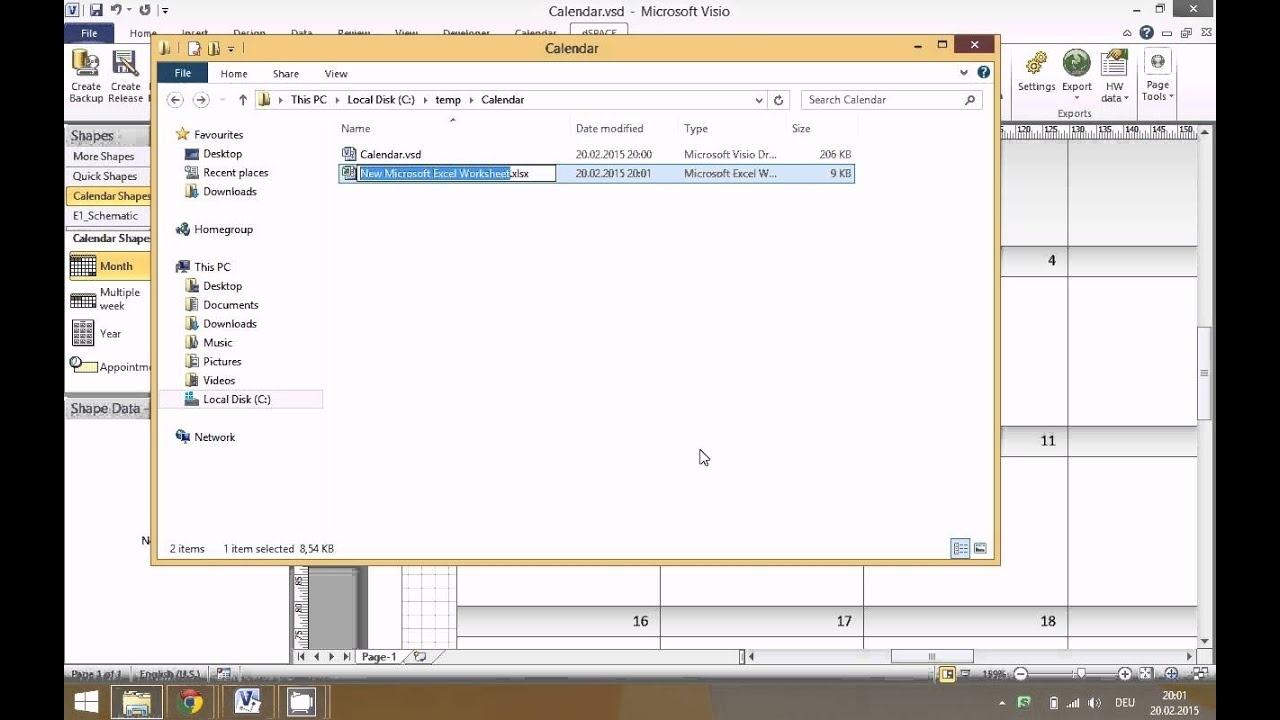 Linking Excel Data To Visio Calendar - Youtube_Calendar Icon In Visio