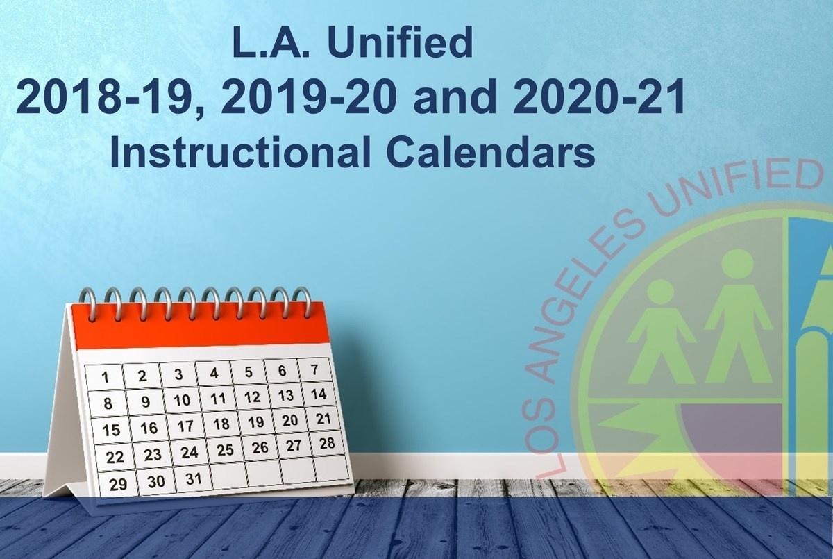 Los Angeles Unified School District_Calendar School Los Angeles