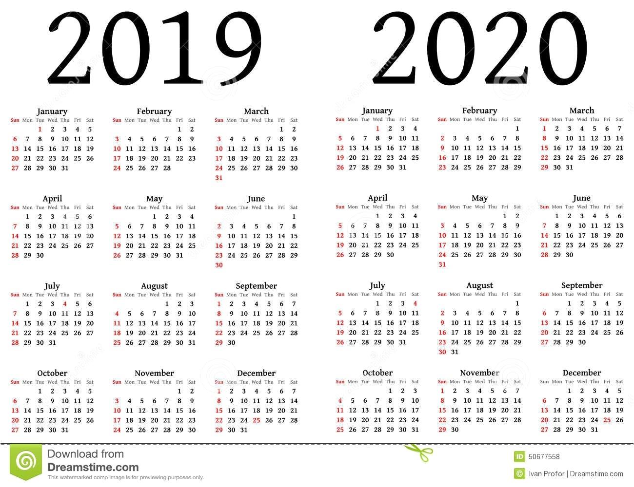 Luxury 25 Sample 2019 2020 Calendar | Blank Calendar Templates_Blank Calendar 2020-19 Pdf