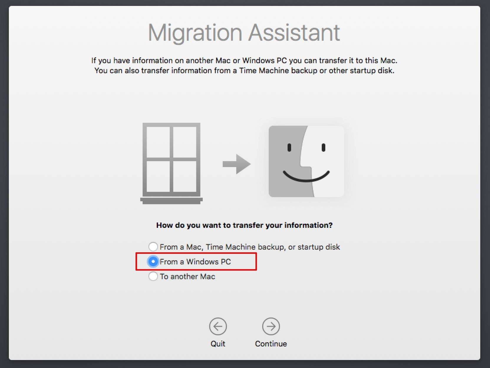 Mac Migration Assistant Can Move Windows Pc Data_Calendar Printing Assistant Error Message