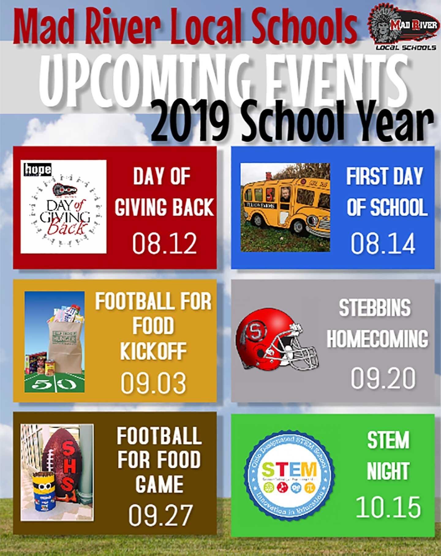 Mad River Local Schools / Homepage_Sad 4 School Calendar