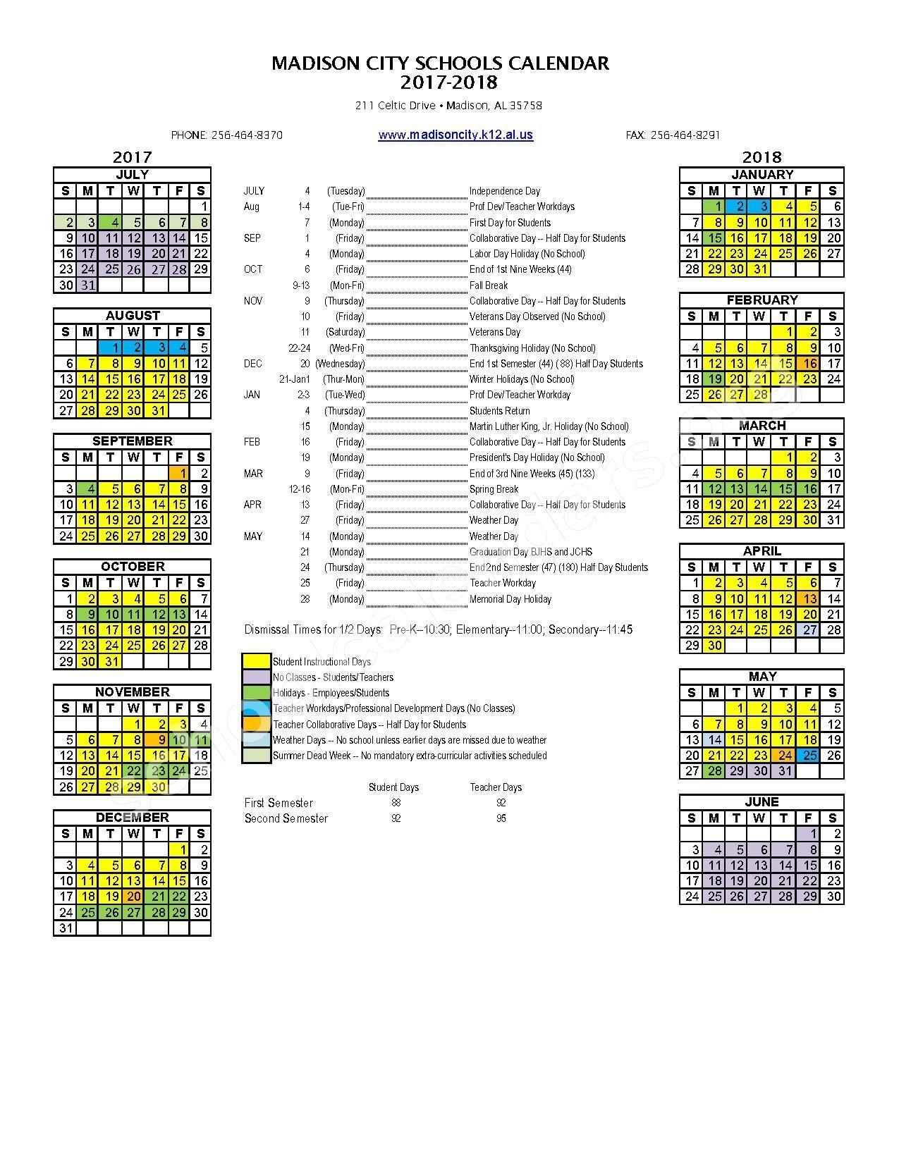 Madison City Schools Calendars – Madison, Al_Madison 1 School Calendar
