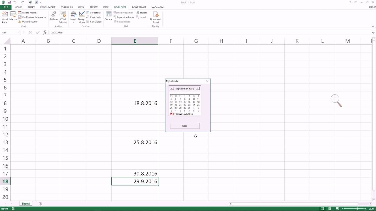 Make Excel Pop-Up Calendar To Enable Date Pick In Any Cell #itfriend  #exceltricks_Add Calendar Icon To Excel Cell