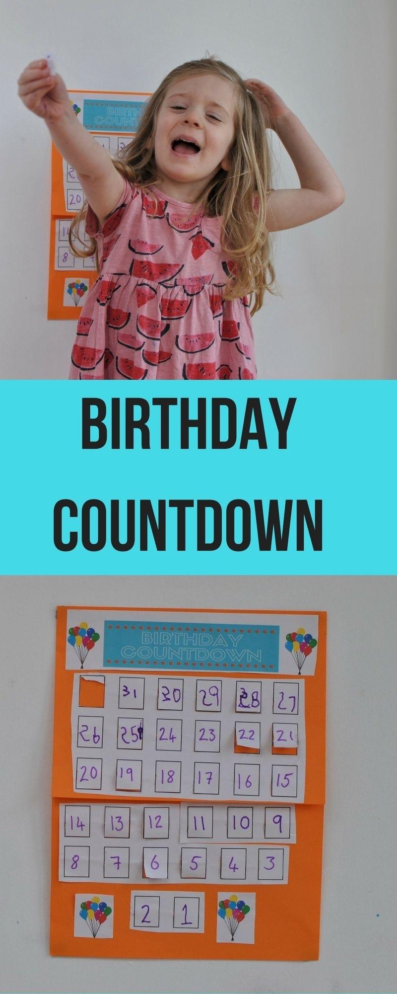 Making A Birthday Countdown Calendar | Craft Ideas For The Little_Countdown Calendar To My Birthday