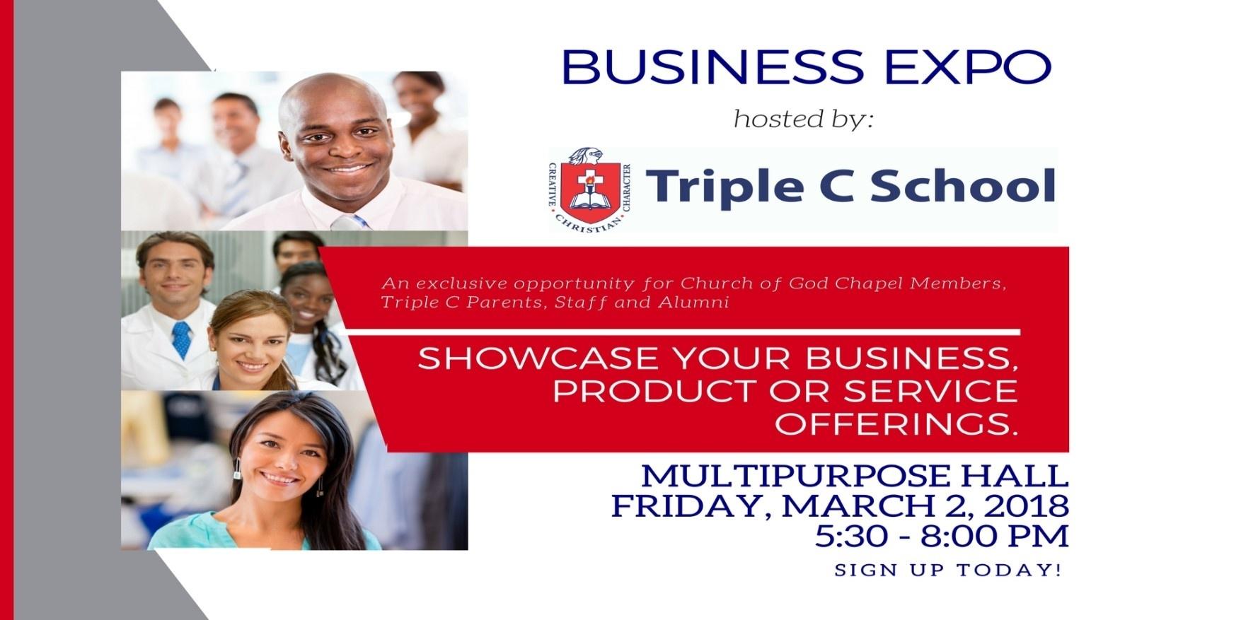 Mark Your Calendar - Business Expo 2018! - Triple C School_Triple C School Calendar