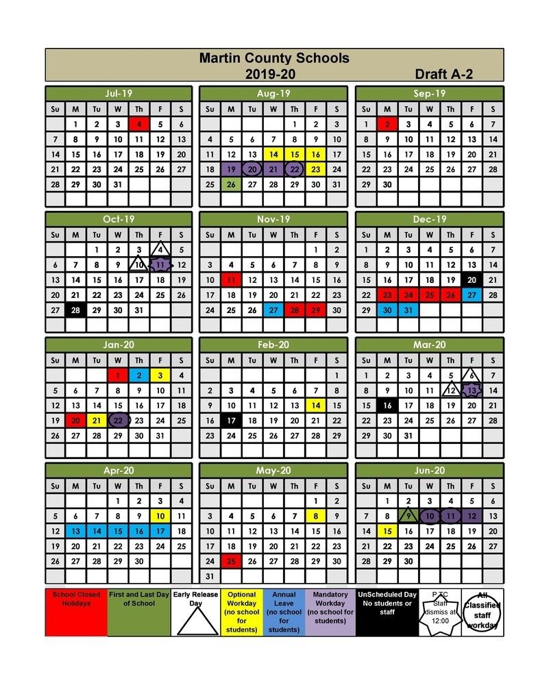 Martin County Schools_School Calendar Martin County