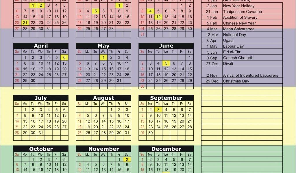 Mauritius 2019 / 2020 Holiday Calendar_School Calendar Mauritius 2020