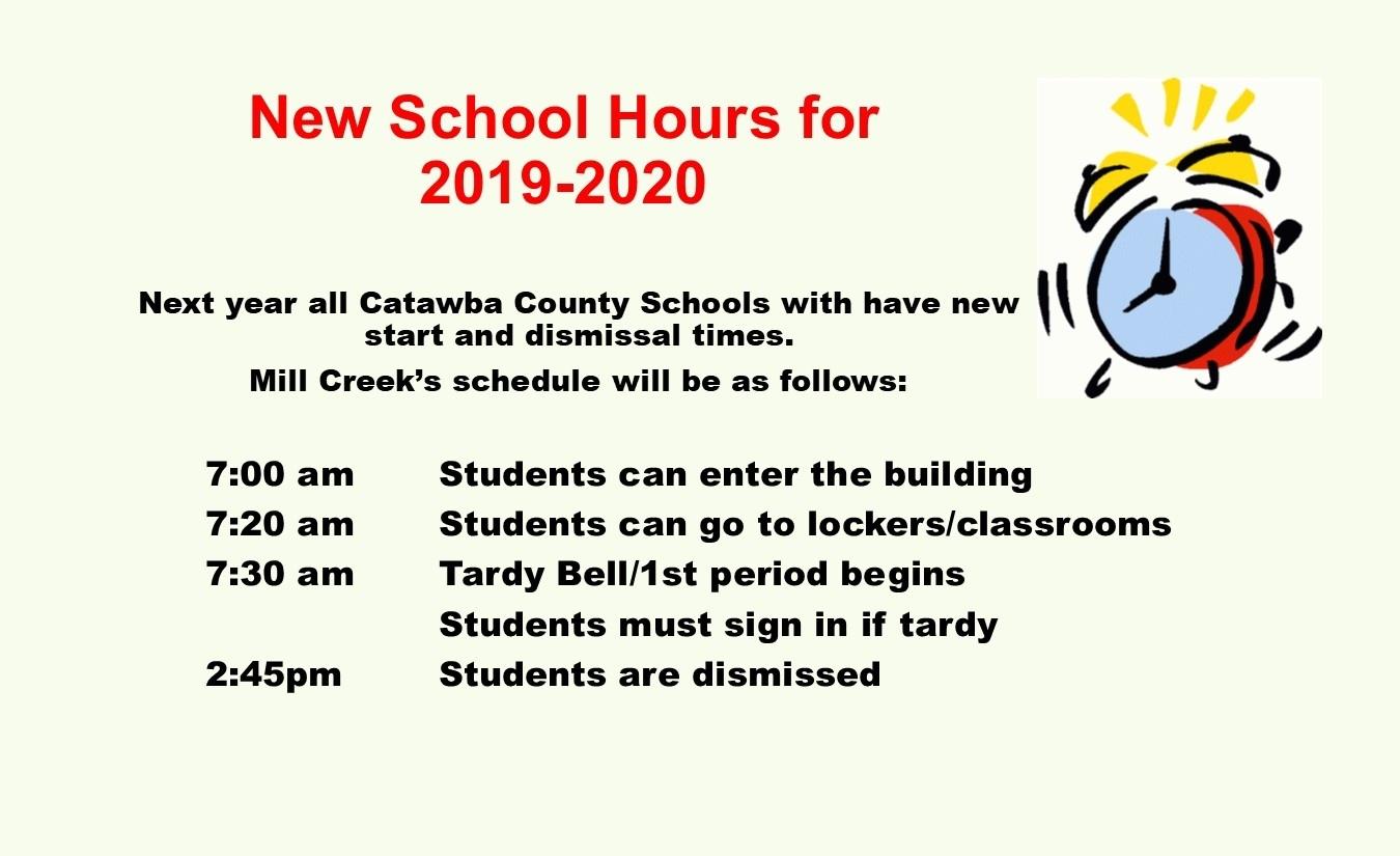 Mill Creek Middle School / Homepage_School Calendar Craven County
