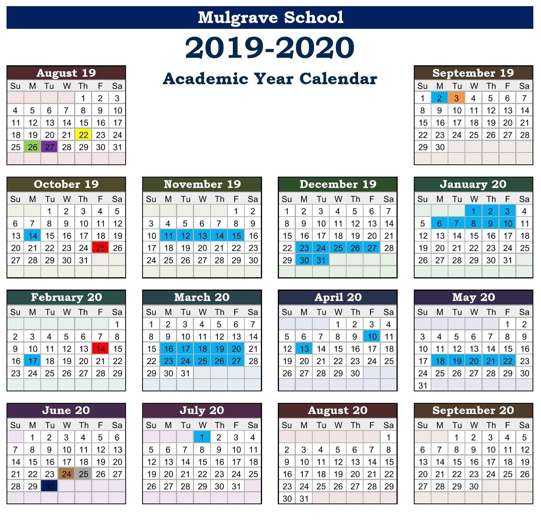 Mulgrave School - Calendars_School Calendar Vancouver 2020