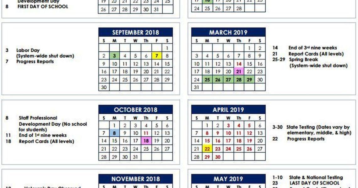 Muscogee Co. School Board Approves 2018-2019 School Calendar_School Calendar Muscogee County