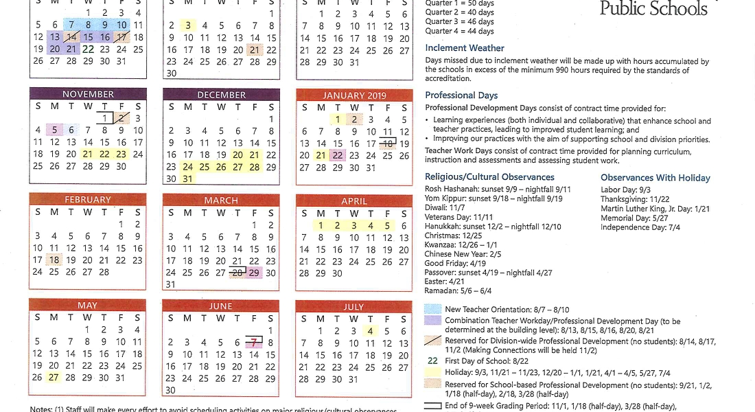 News & Events - Walmart_School Calendar Albemarle County