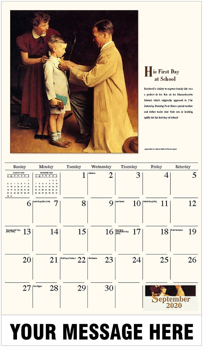 Norman Rockwell - Memorable Images_Ads B School Calendar