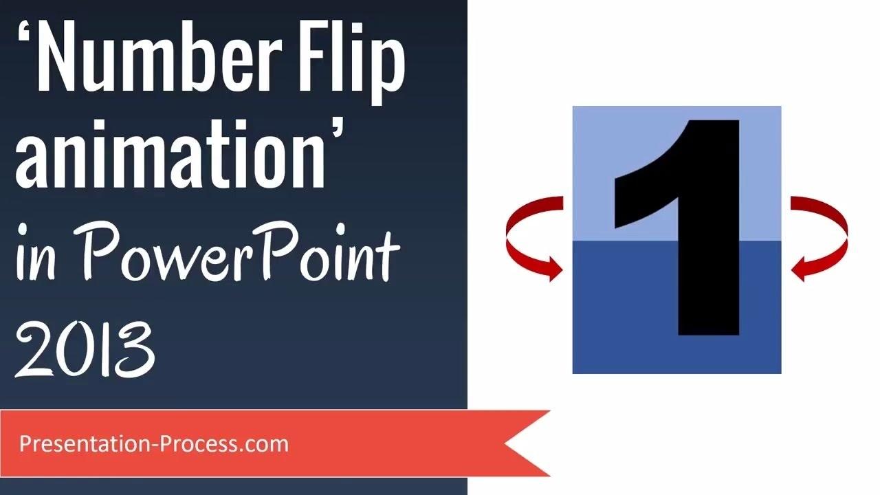 Number Flip Powerpoint Animation Effects Tutorial_Countdown Calendar In Powerpoint