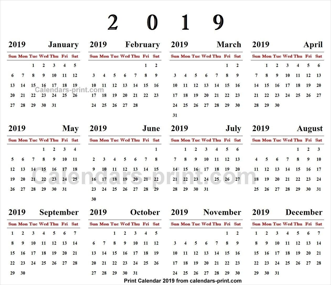 Online Calendar 2019 | 2019 Yearly Calendar | Online Calendar_Calendar 2019 Printing Online