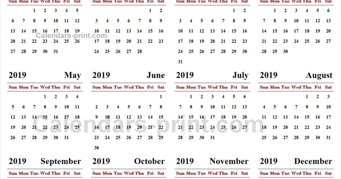 Online Calendar 2019 | 2019 Yearly Calendar | Online Calendar_Online Calendar Printing With Photos