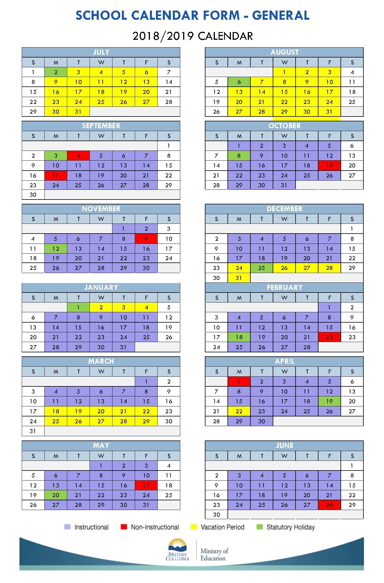 Perky Calendar Vancouver School District • Printable Blank Calendar_Calendar Vancouver School District