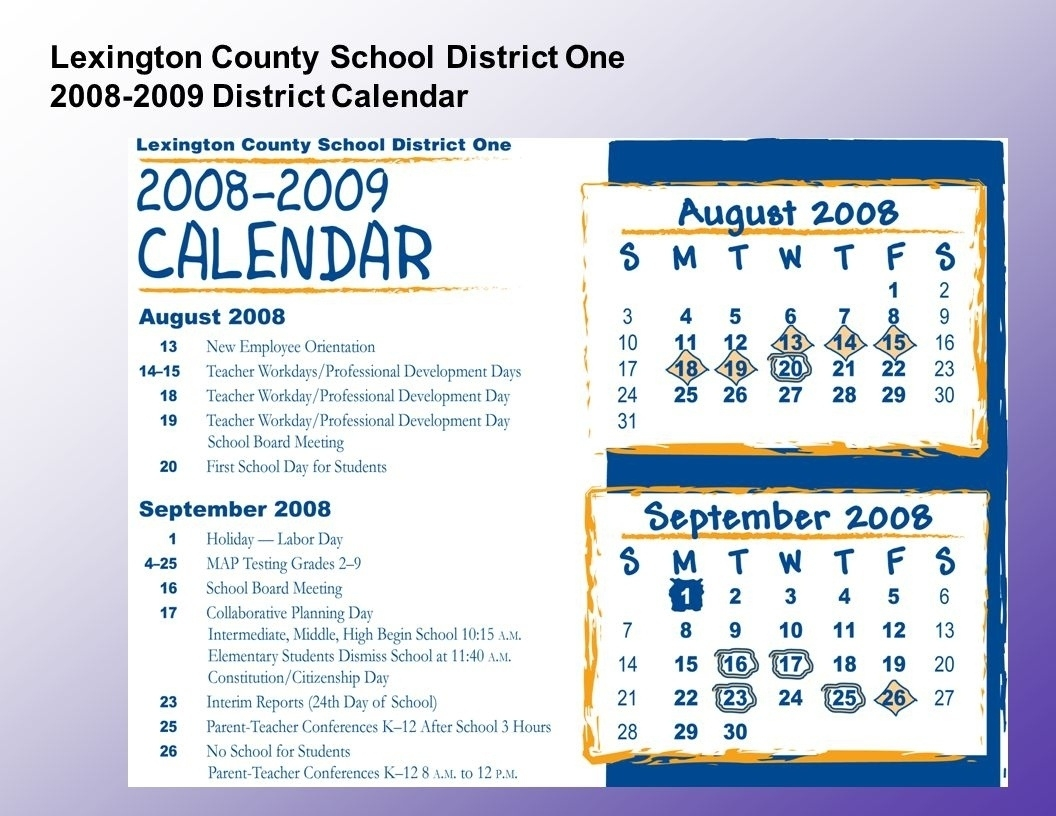 Perky Lexington Richland 5 School Calendar • Printable Blank_Lexington 5 School Calendar