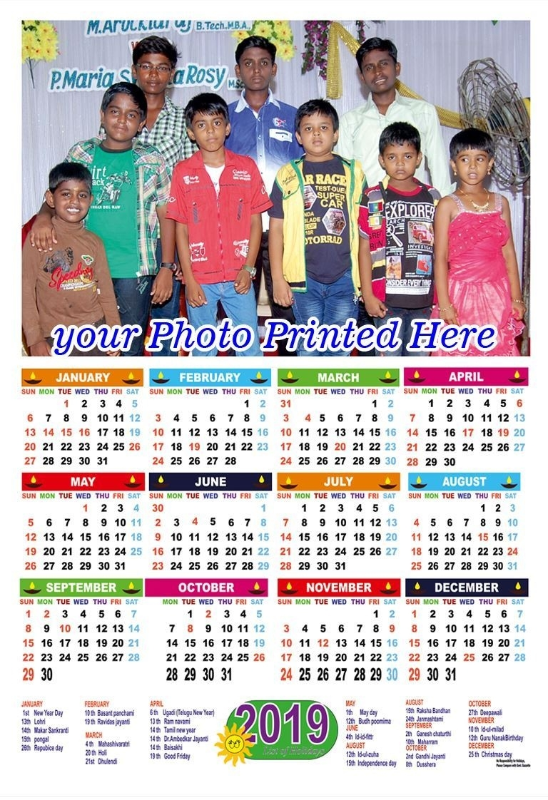 Photo Calendar Printing 2020_Calendar 2019 Printing Chennai