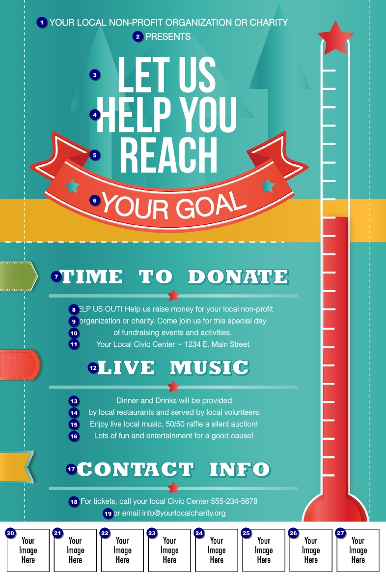 Pin By Jaime Voelkel On Design | Fundraising Poster, School_Calendar Printing For Nonprofits