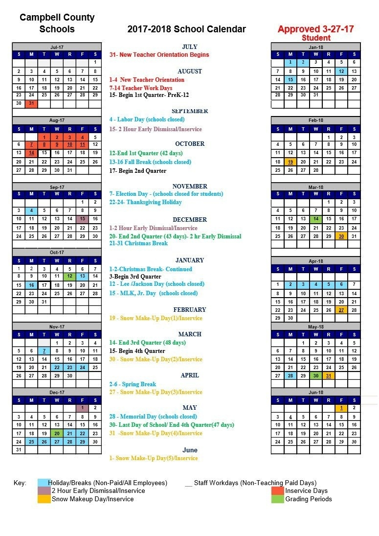 Polk County School Calendar 2017 18 To Download Or Print_School Calendar Polk County 2020