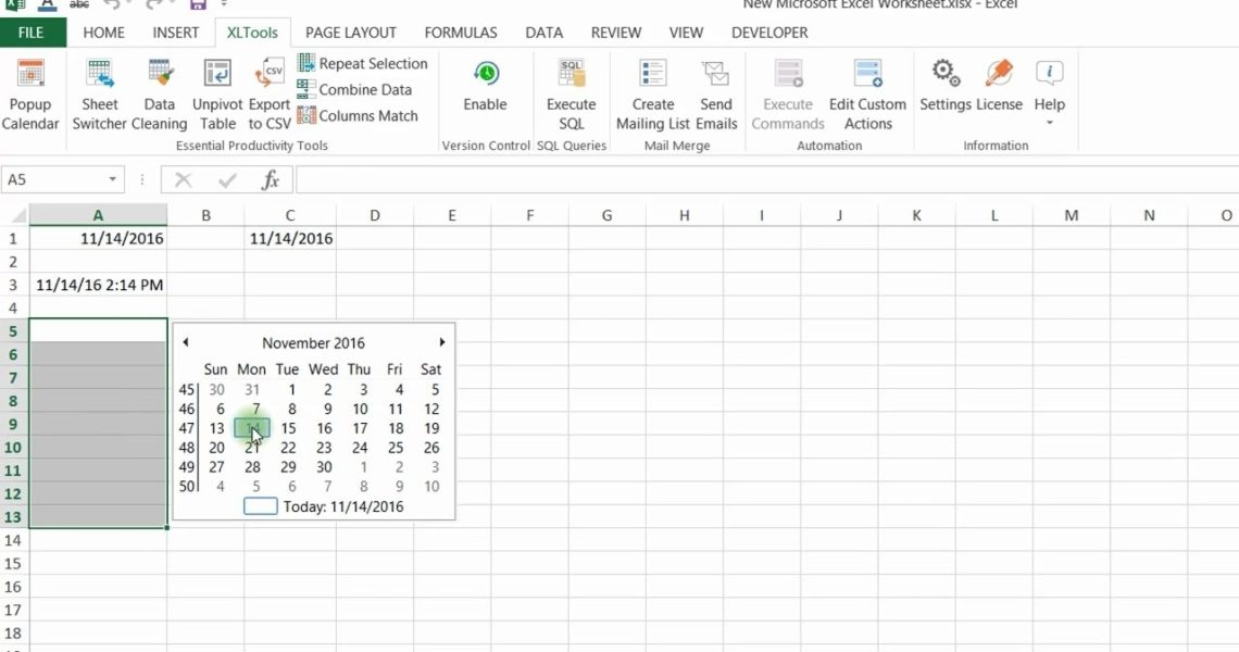 Popup Calendar For Excel | Xltools – Excel Add-Ins You Need Daily_Insert Calendar Icon In Excel