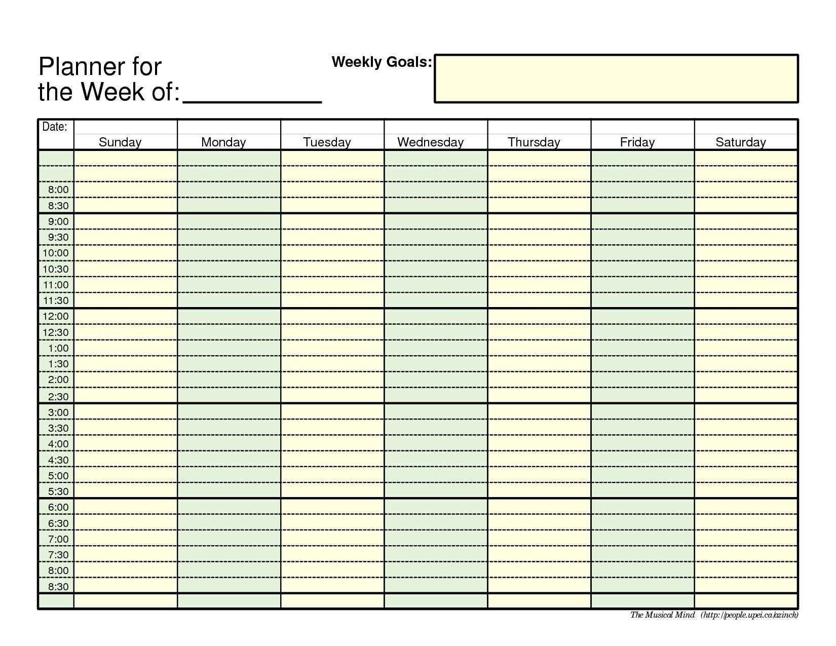 Print Blank Week Calendar Outlook Printable For Free Of Cost Weekly_Calendar Blank In Outlook