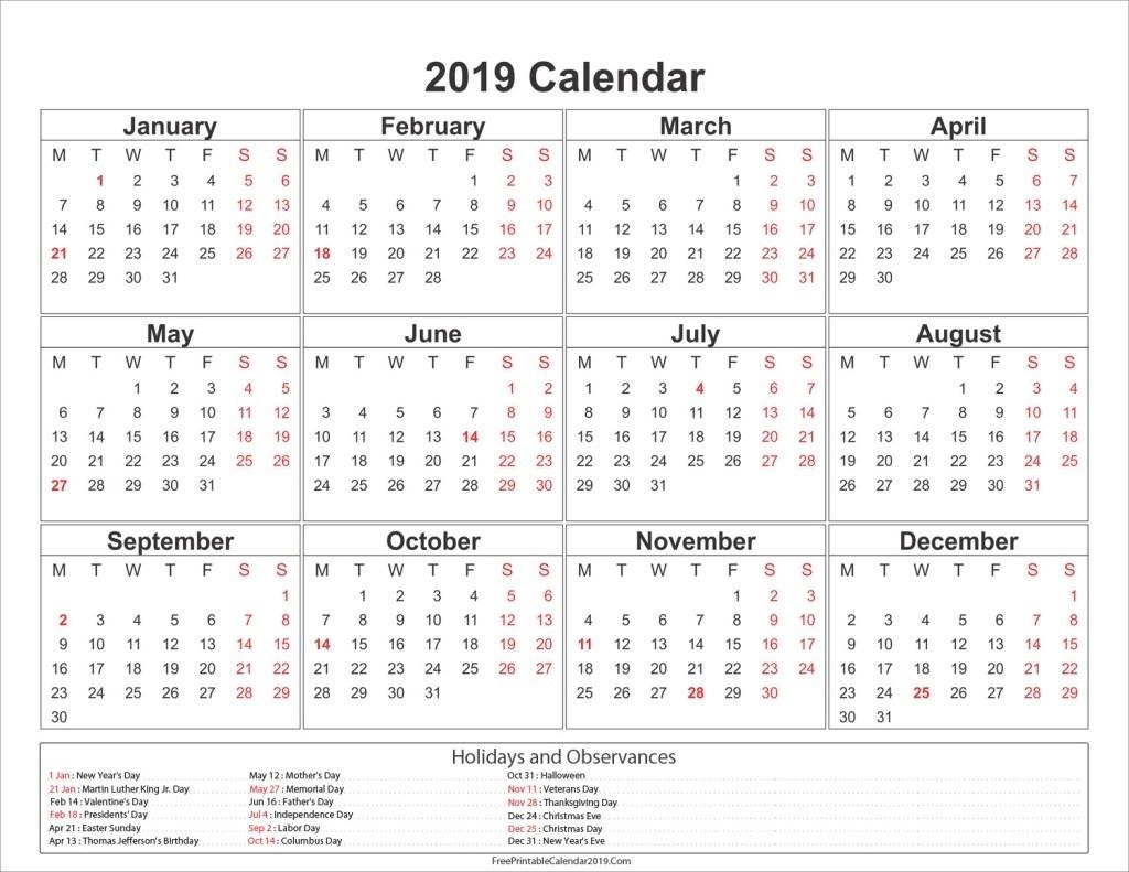 Printable 2019 Calendar Nsw | Printable Calendar 2019_Calendar 2019 Printing Singapore