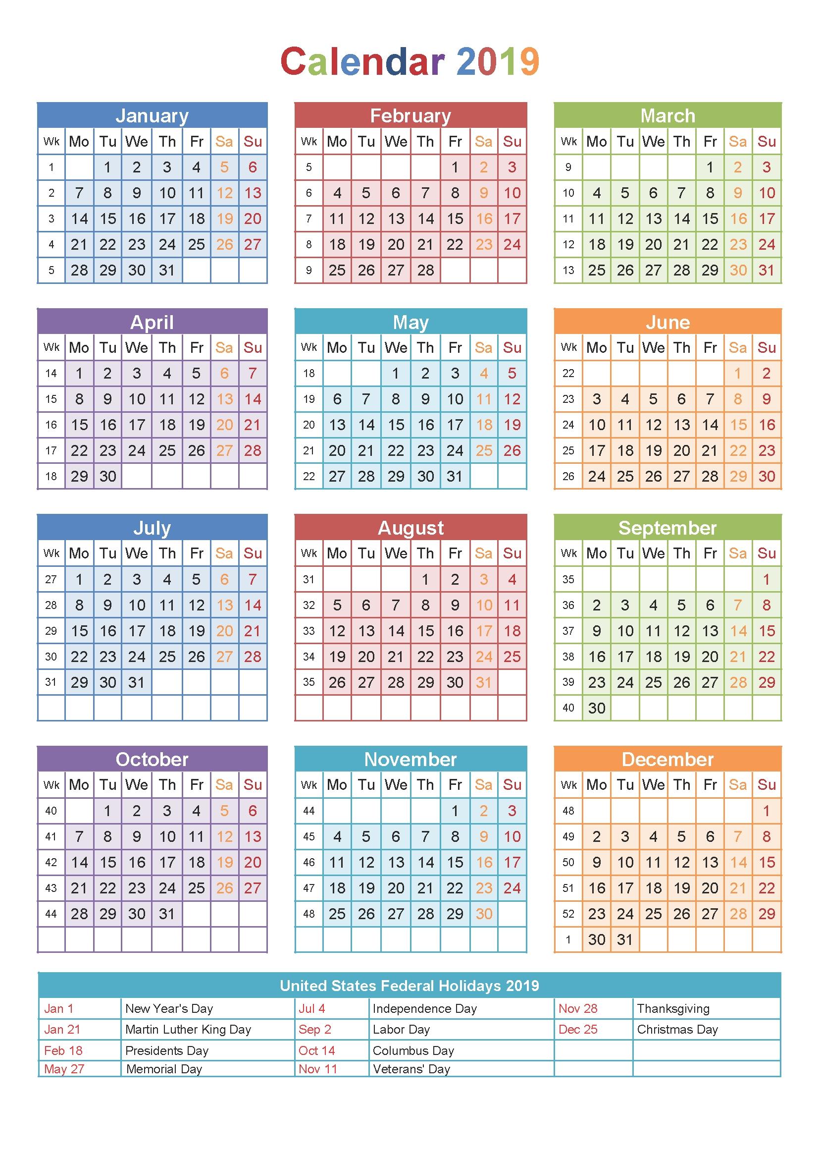 Printable 2019 Calendar With Holidays South Africa  </p>   </div>        <br>     <div class=