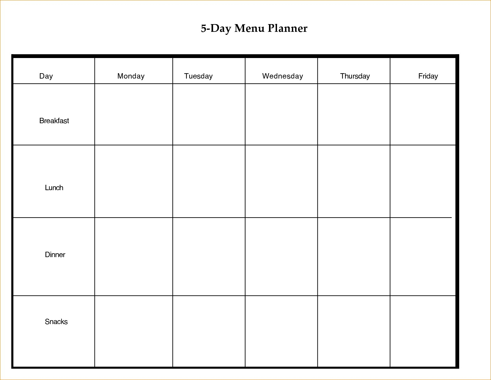 Printable 5 Day Calendar Blank Calendar Template 5 Day Week 0 8 With_5 Day Blank Calendar Free