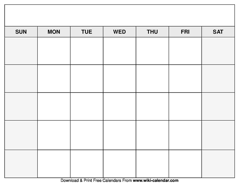 Printable Blank Calendar Templates_Blank Calendar In Pdf