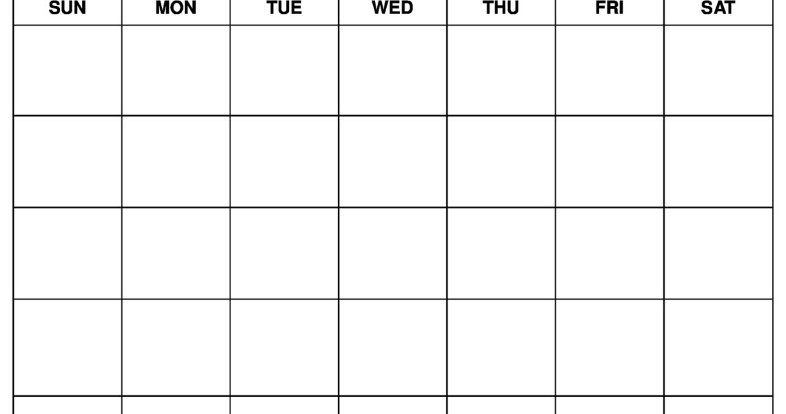 Printable Blank Calendar Templates_Free Calendar Blanks To Print