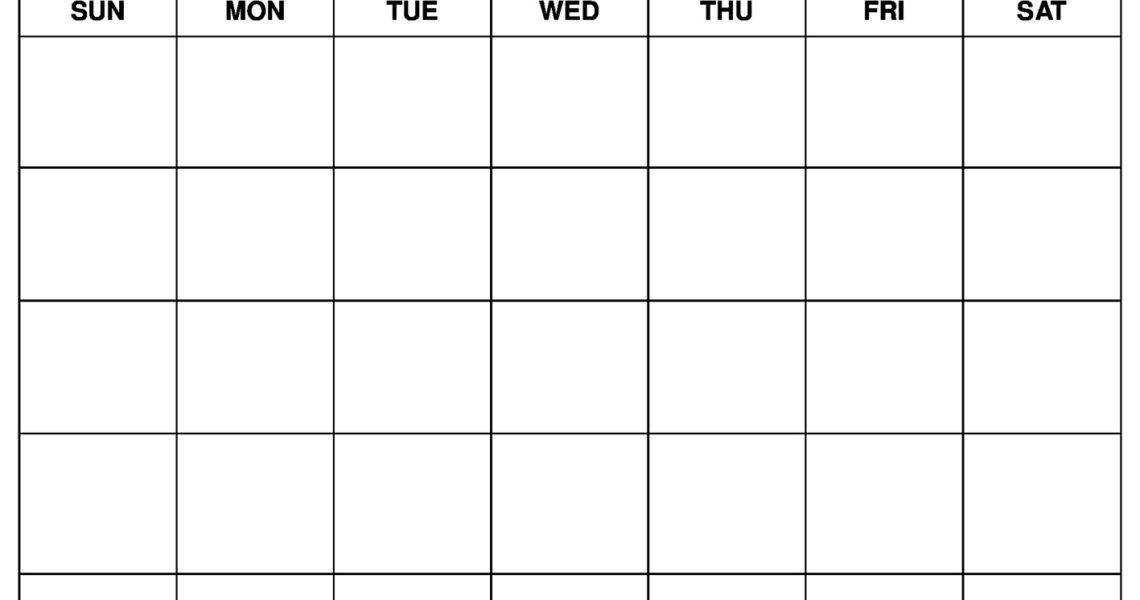 Printable Blank Calendar Templates_Print A Blank Calendar Page