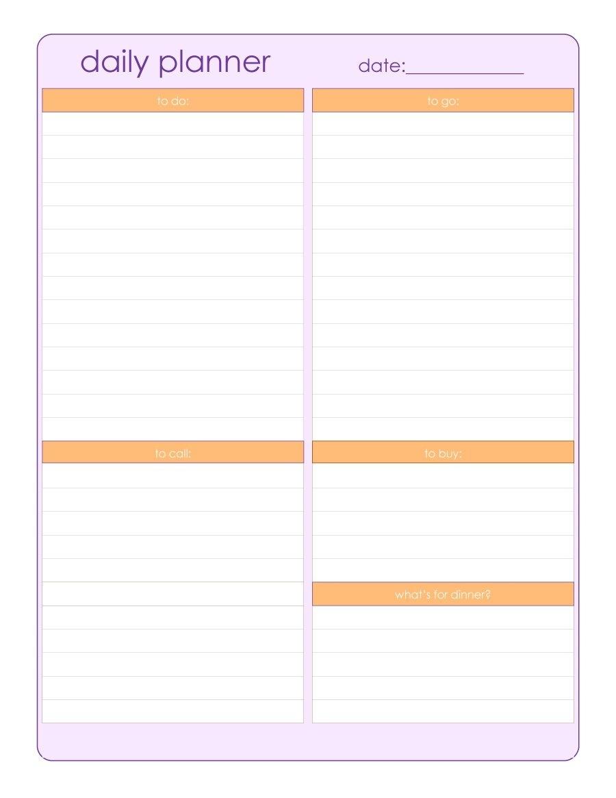 Printable Blank Schedule Template Calendar Daily | Smorad_Blank Calendar Daily Schedule