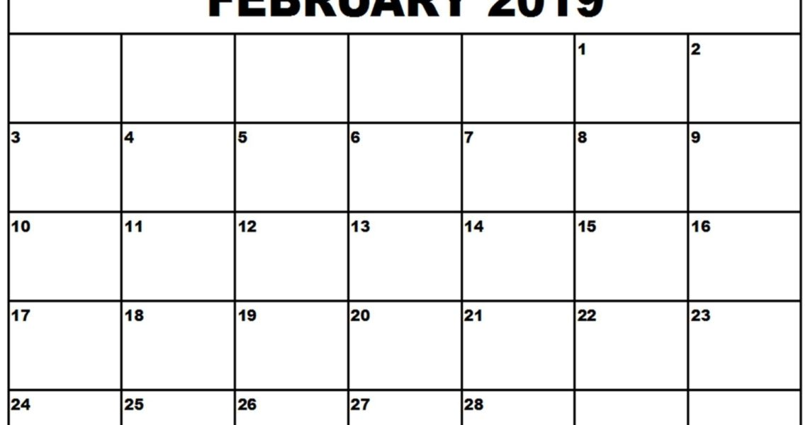 Printable Calendar 2019 Calendarlabs | Printable Calendar 2019_Blank Calendar Template Calendarlabs