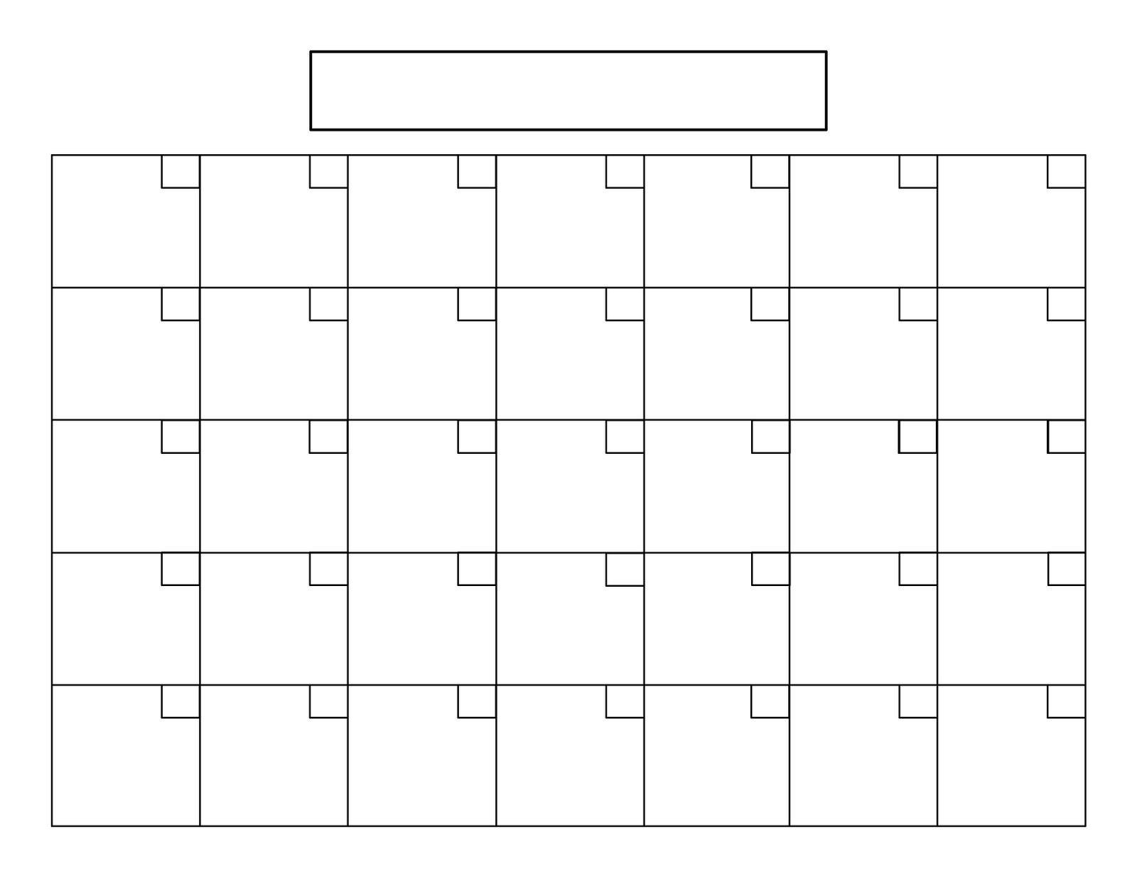 Printable Calendar 8 5 X 11 | Printable Calendar 2019_8.5X 11 Blank Calendar