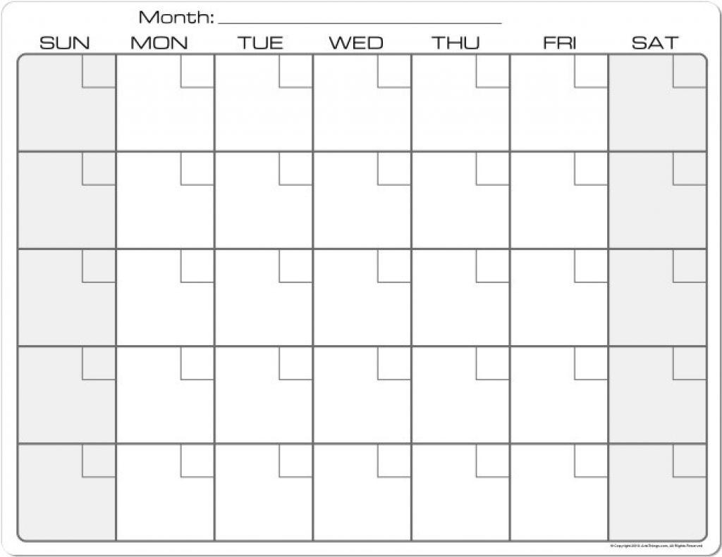 Printable Calendar 8 X 11 | Printable Calendar 2019_8 X 11 Blank Calendar