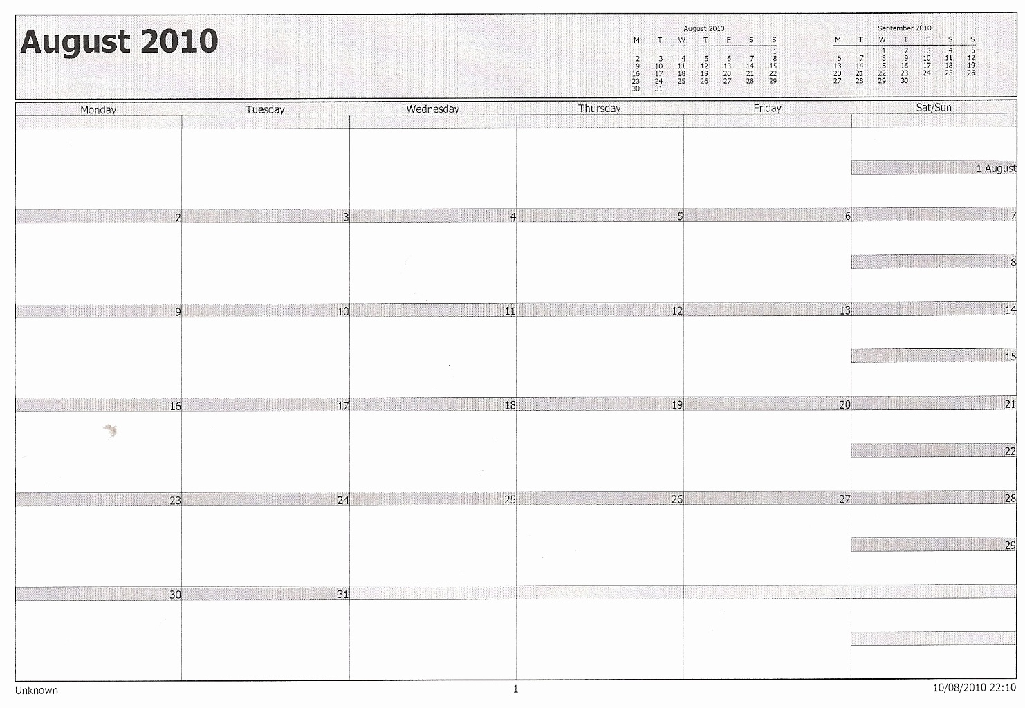 Printable Calendar In Outlook | Printable Calendar 2019_Outlook Calendar Printing Blank