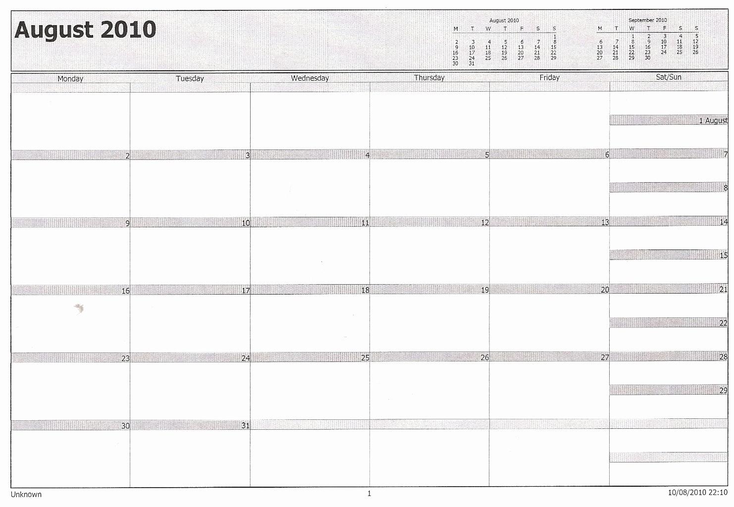 Printable Calendar In Outlook | Printable Calendar 2019_Print Blank Calendar Outlook