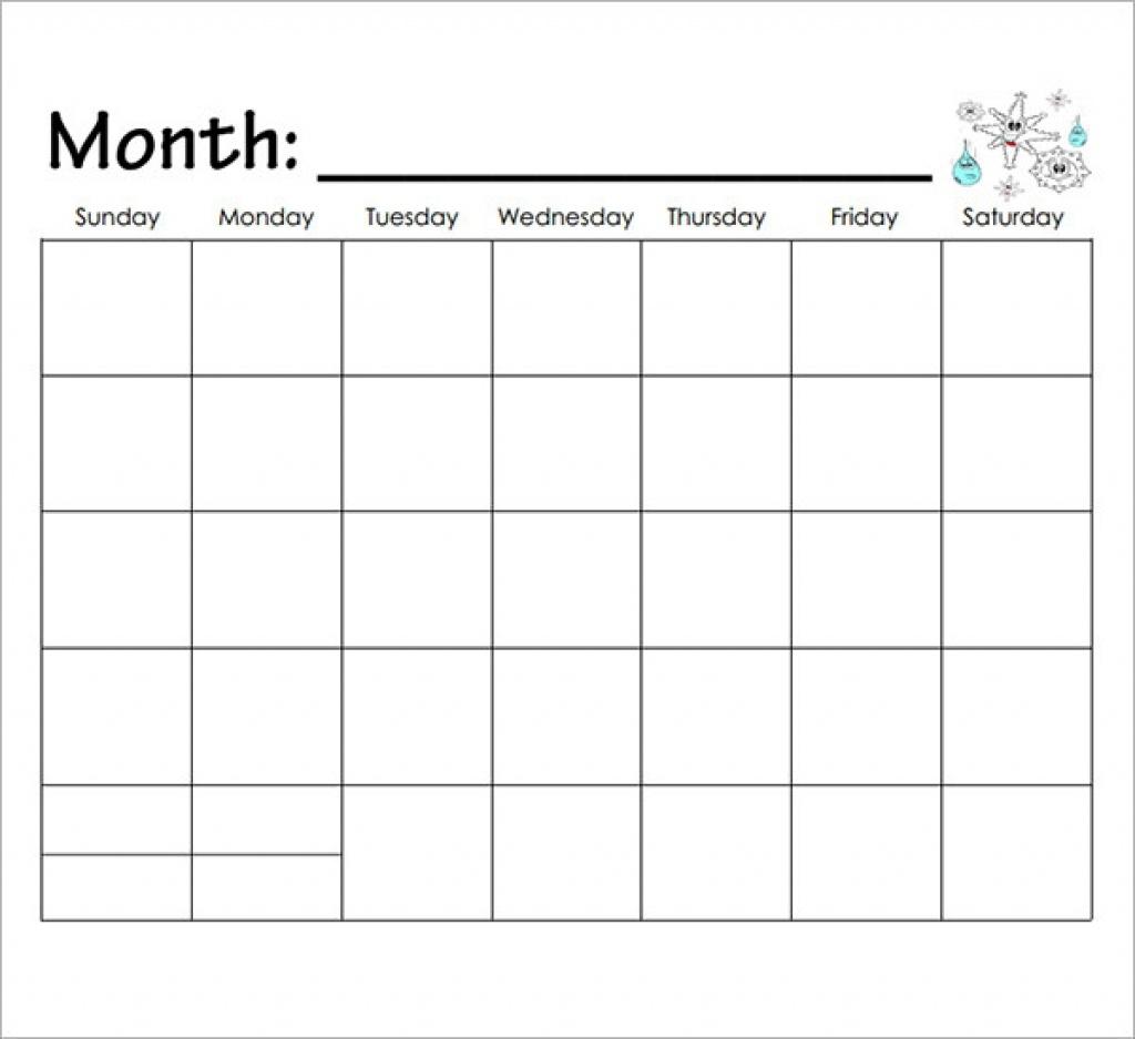 Printable Calendar Kindergarten | Printable Calendar 2019_Blank Calendar Template Kindergarten