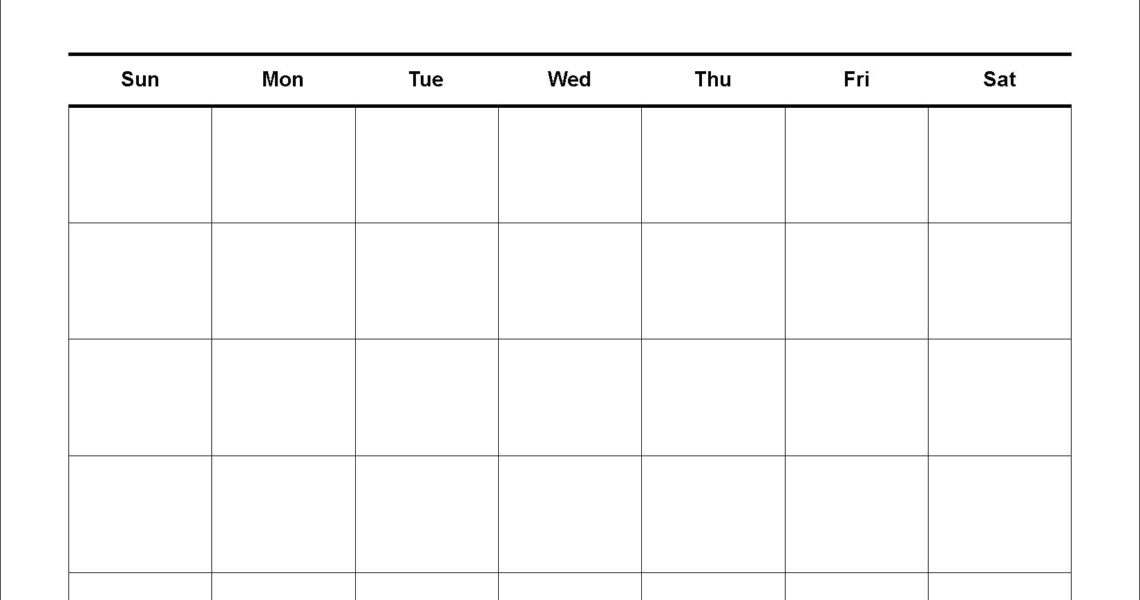 Printable Calendar Large Squares | Printable Calendar 2019_Calendar With Blank Squares