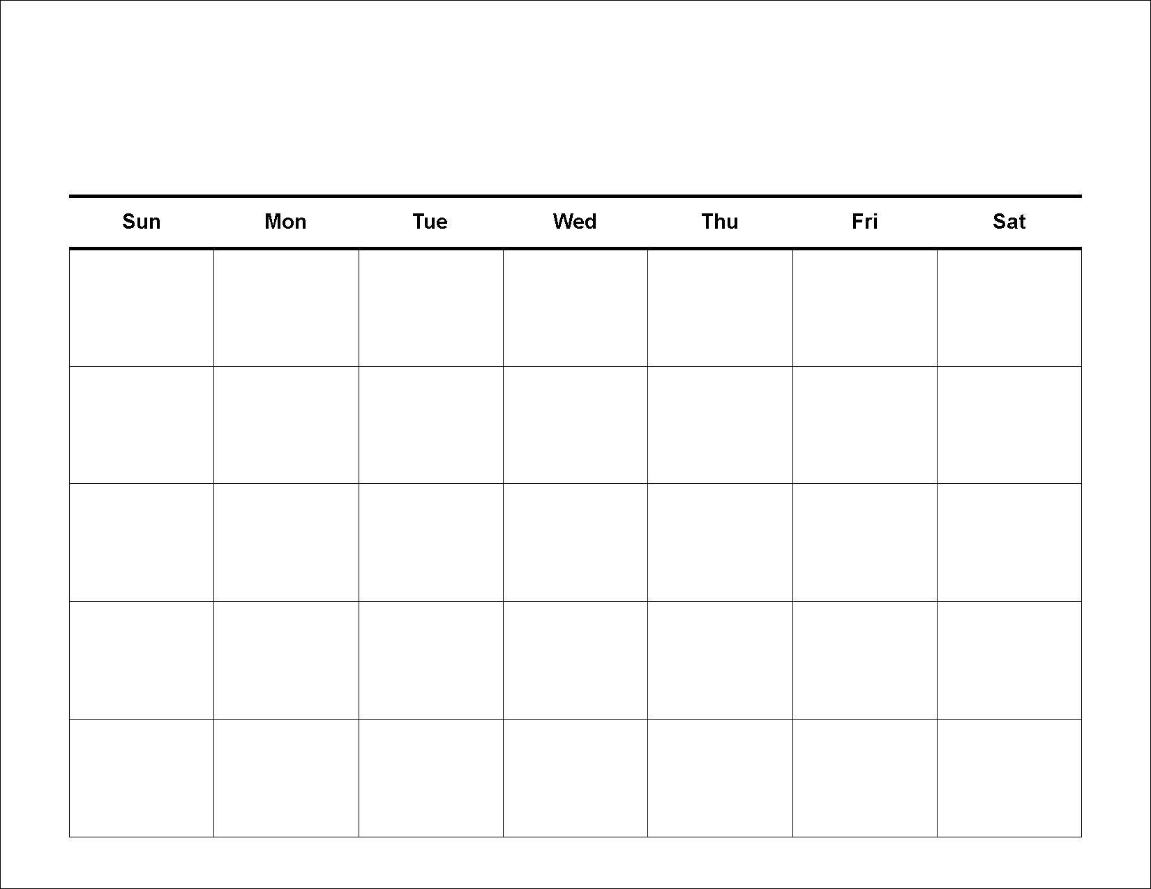 Printable Calendar Large Squares | Printable Calendar 2019_Large Blank Calendar Grid