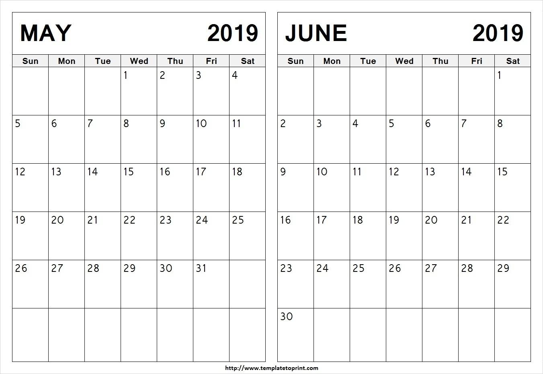 Printable Calendar May June 2019 | Calendar Design Ideas_Tai Cheong Calendar Printing Ltd