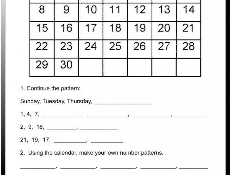 Printable Calendar Worksheets   Printable Calendar 2019_Blank Calendar Worksheets Kindergarten