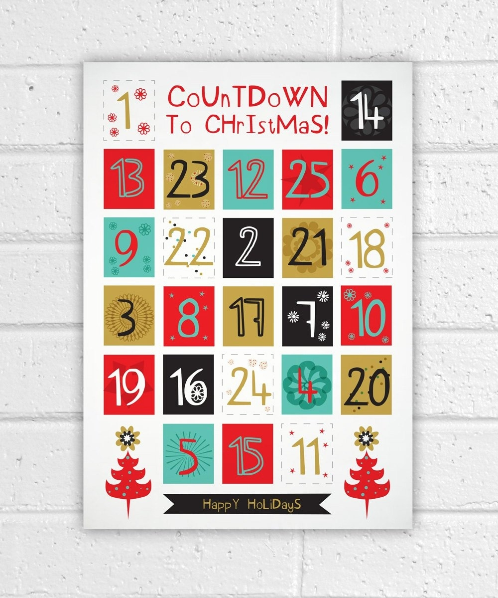 Printable Countdown Calendar Template And Printable Advent Calendar_Advent Calendar Countdown Printable