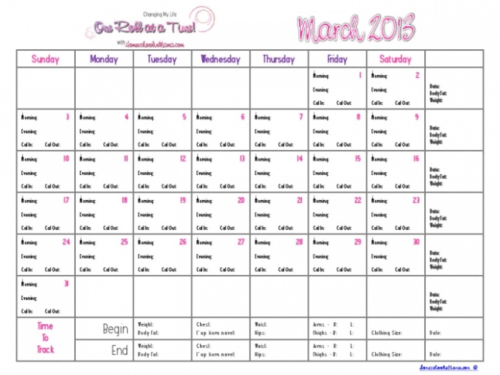 Printable Countdown Calendar Template Weight Loss Calendar Template_Countdown Calendar For Weight Loss