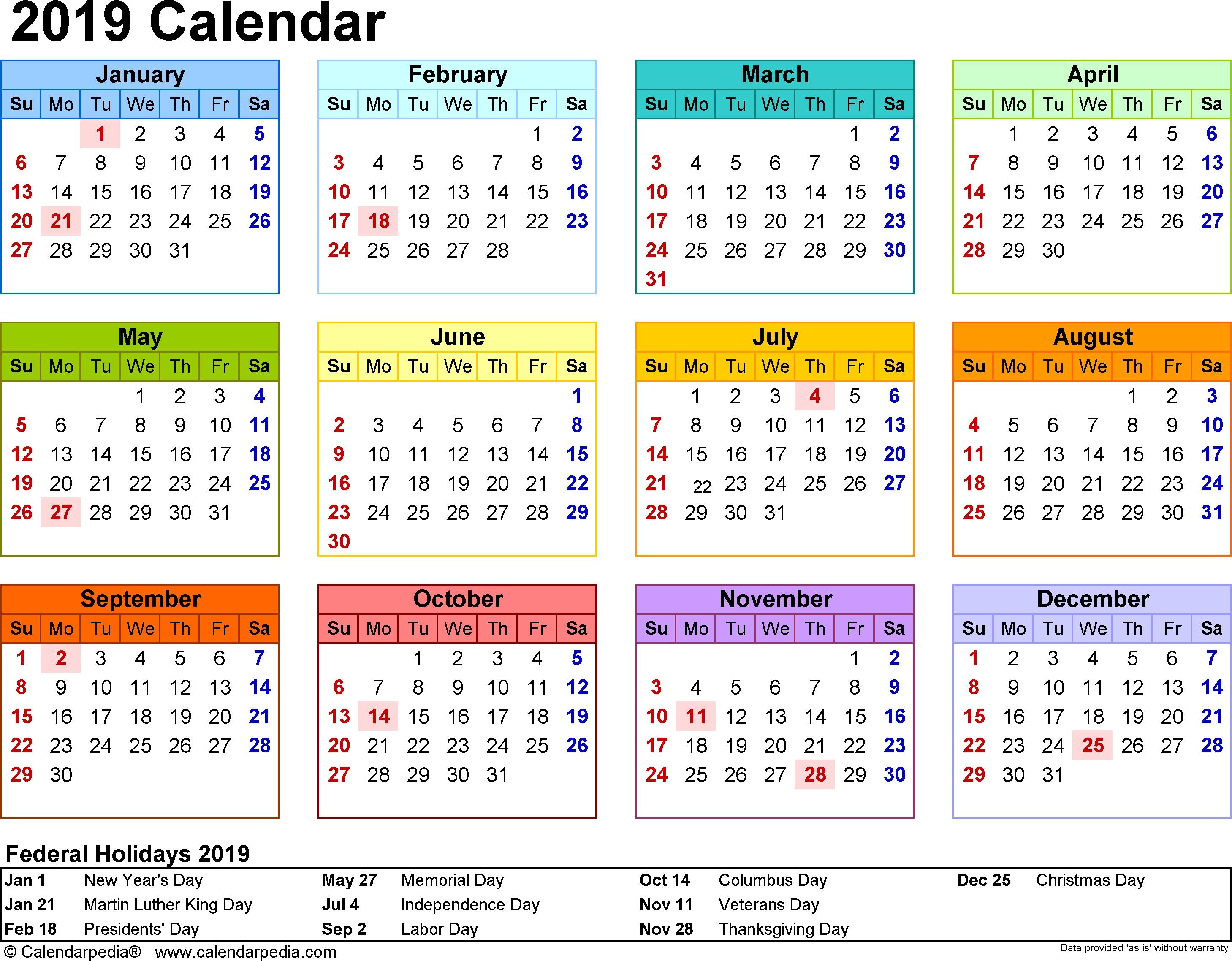 Printable School Calendar 2019 South Africa | Printable Calendar 2019_School Calendar Eastern Cape 2020