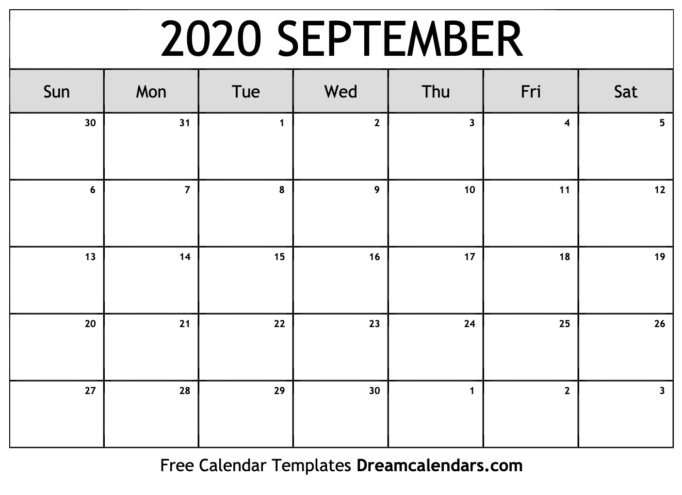 Printable September 2020 Calendar_Blank Calendar September 2020 Vertical