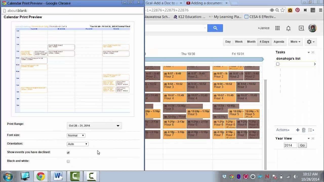 Printing Google Calendar_Printing Google Calendar With Details