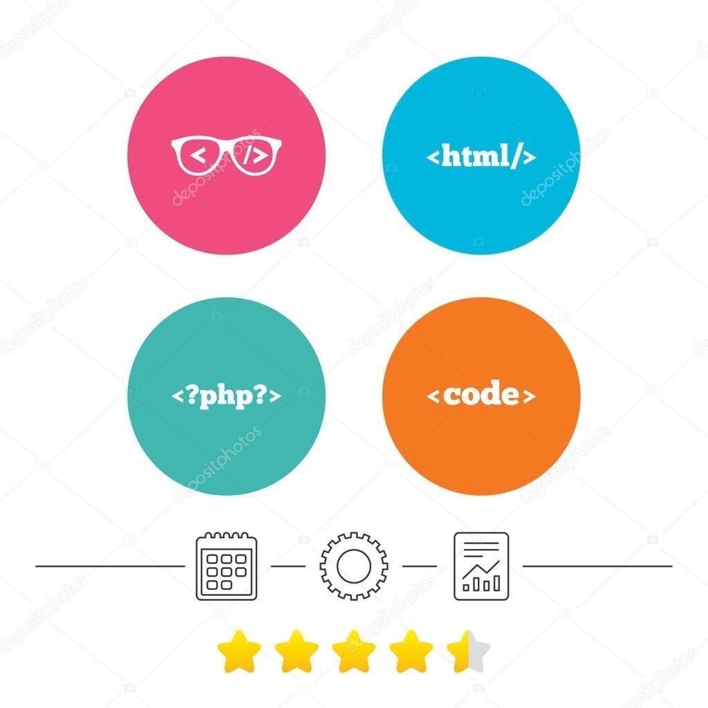 Programmer Icons Ser — Stock Vector © Blankstock #129790716_Calendar Icon In Html